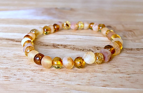 Honeybunch : Baltic Amber Rounds Bracelet