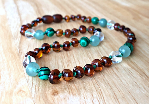 Go Green : Baltic Amber Teething Necklace
