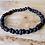 Thumbnail: Dark Matter : Black Cherry Baltic Amber Rounds Bracelet
