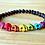 Thumbnail: Rainbow Skulls with Baltic Amber Stretchy Bracelet