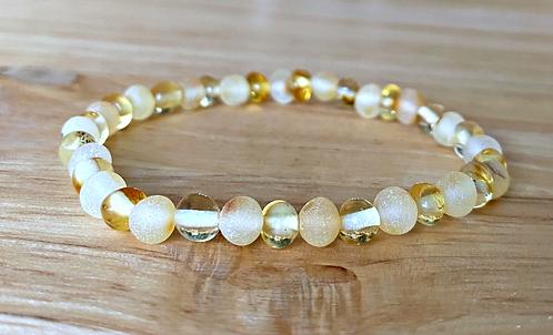 Mellow Yellow : Baltic Amber Rounds Bracelet
