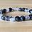 Thumbnail: Black Tourmalinated Quartz Single Stone Stretchy Stacker Bracelet