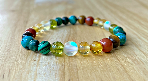 Happy Belly : Gut Health & Digestion Support Stretchy Bracelet