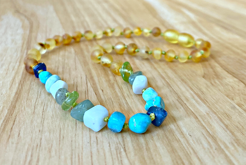 Catalina : Baltic Amber Teething Necklace