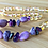 Thumbnail: Zen Kids : Children's Anxiety Relief Necklace - Purple