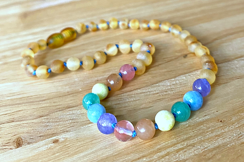 Lucky Charms : Baltic Amber Teething Necklace