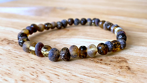 Into The Woods : Baltic Amber Rounds Anklet