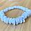 Thumbnail: Blue Lace Agate Stretchy Bracelet