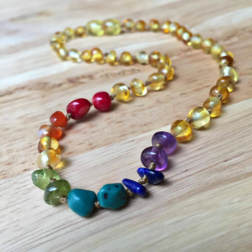 After The Rain - Lemon : Kid's Baltic Amber Necklace