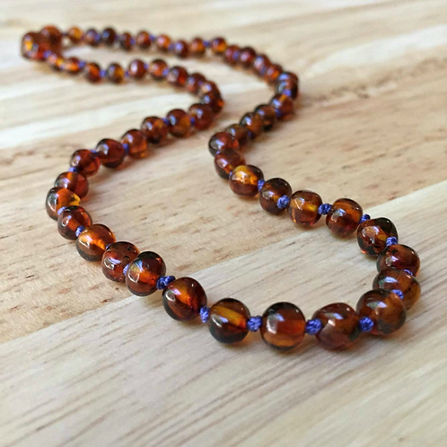Cognac Baltic Amber Adult Necklace