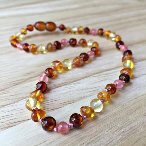 Chocolate Cherry : Kid's Baltic Amber Necklace