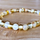 Thumbnail: Mellow Yellow : Baltic Amber Rounds Anklet