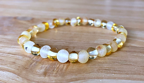 Mellow Yellow : Baltic Amber Rounds Anklet