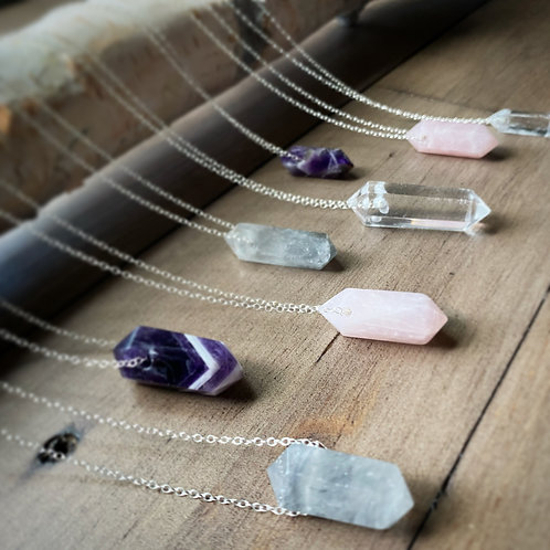 CUSTOM Crystal Point Chain Necklaces