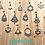 Thumbnail: CUSTOM : Chandelier Earrings with ROUND Gemstones