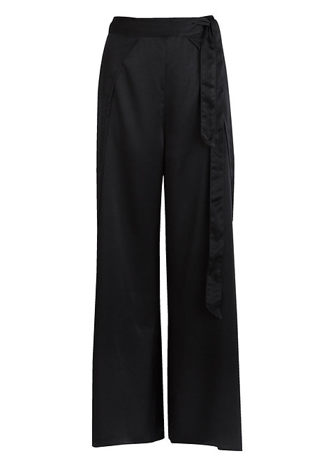 Silky Black Trousers