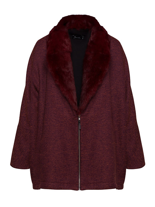Coat w/ Fur Red
