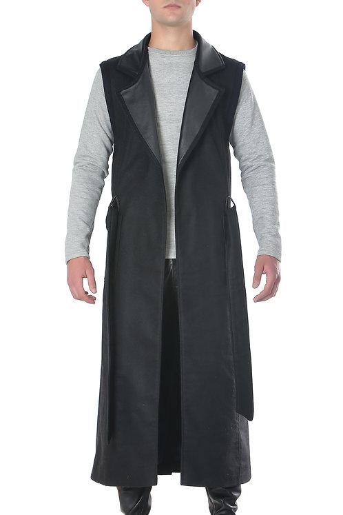 Black 'Player' Wool Vest