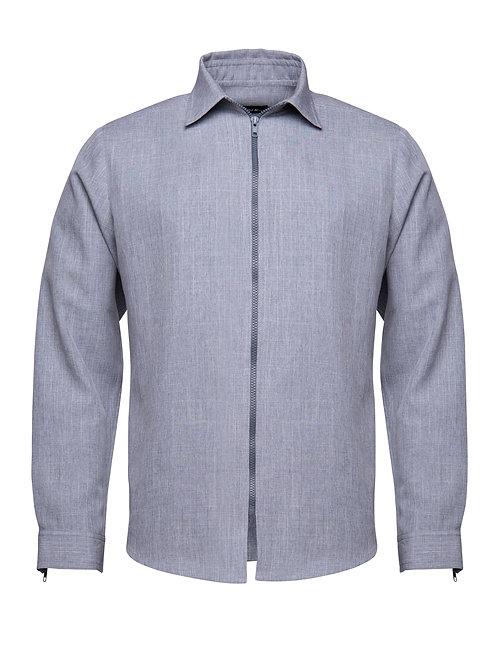 Grey Shirt w/ Zipper