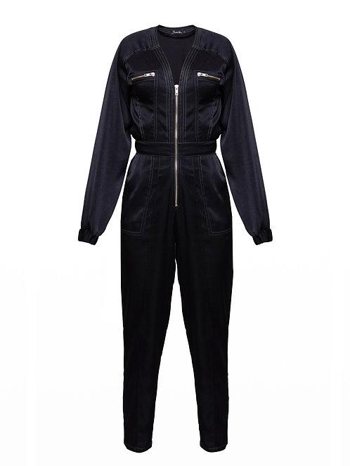 Silky Black Atacama Jumpsuit