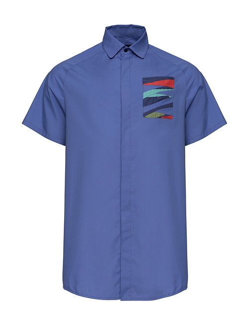 Relaxed Blue Shirt