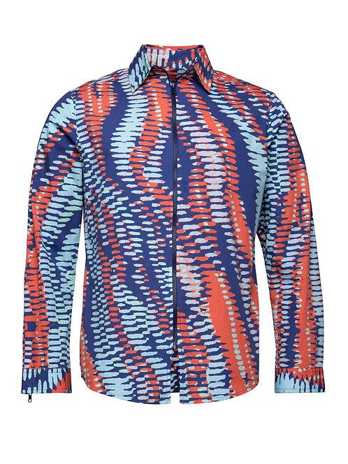 Printed Shirt w/ Zipper