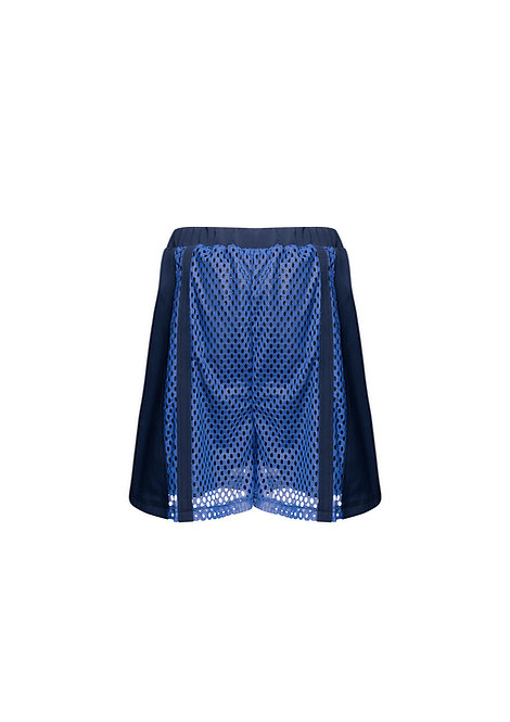 Net Shorts with Stripes