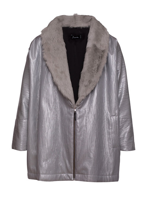 Coat w/ Fur Grey