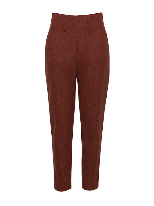 Brick Alpine Fitted Trousers