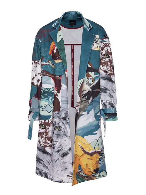Printed Travel Coat
