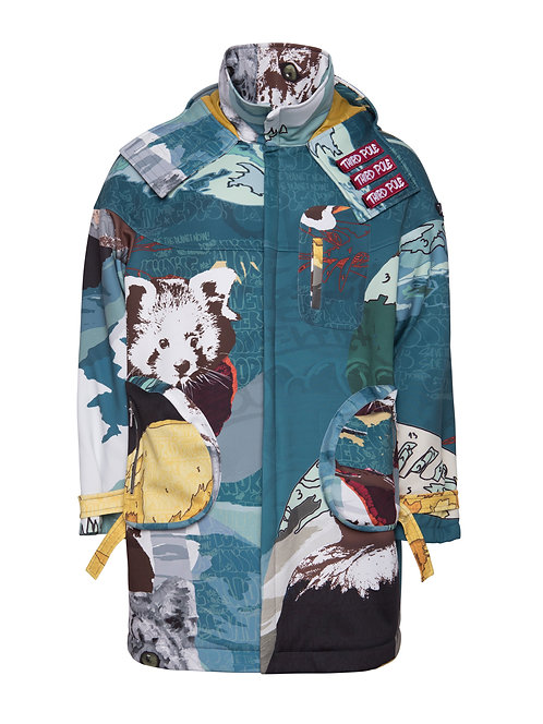 Printed Himalayas Coat