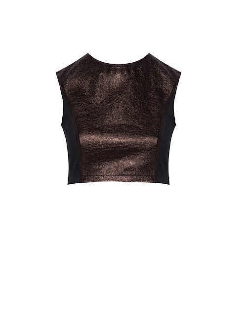 Bronze Leather Top
