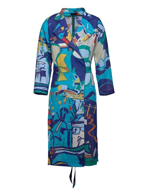 Printed Linen Coat