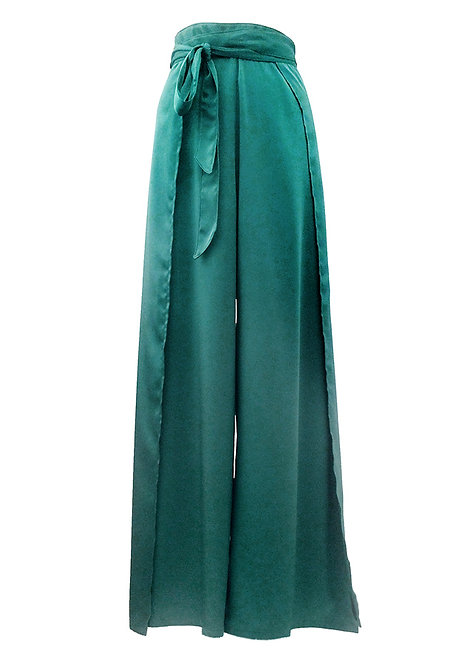 Silky Emerald Trousers