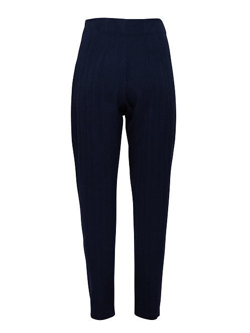 Fitted Trousers Blue