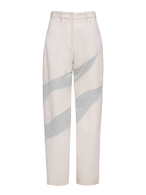 Cream Eucalyptus Trousers