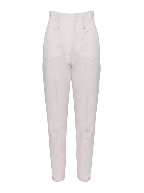 White Alpine Fitted Trousers