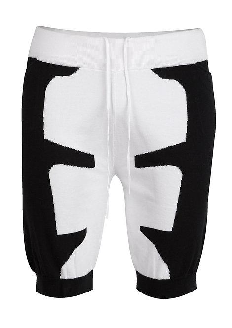 Black&White Knit Shorts