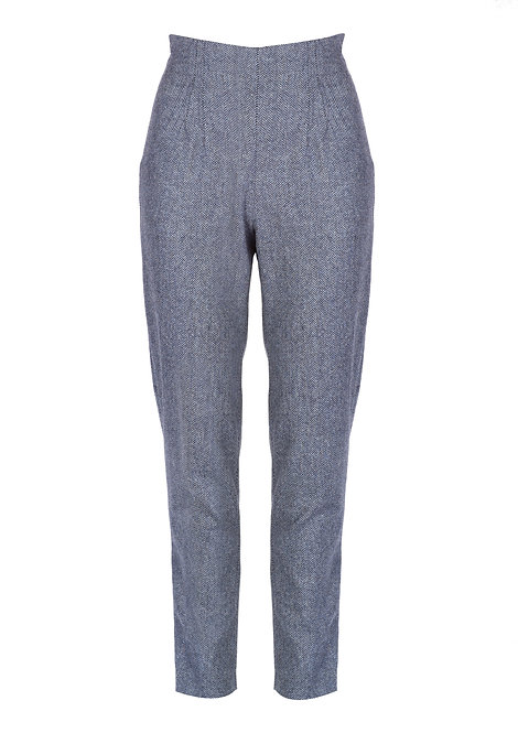 Merino Wool Fitted Trousers