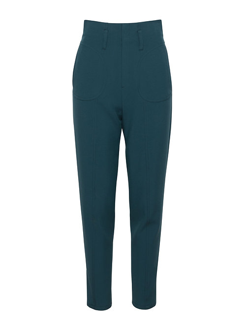 Blue Alpine Fitted Trousers
