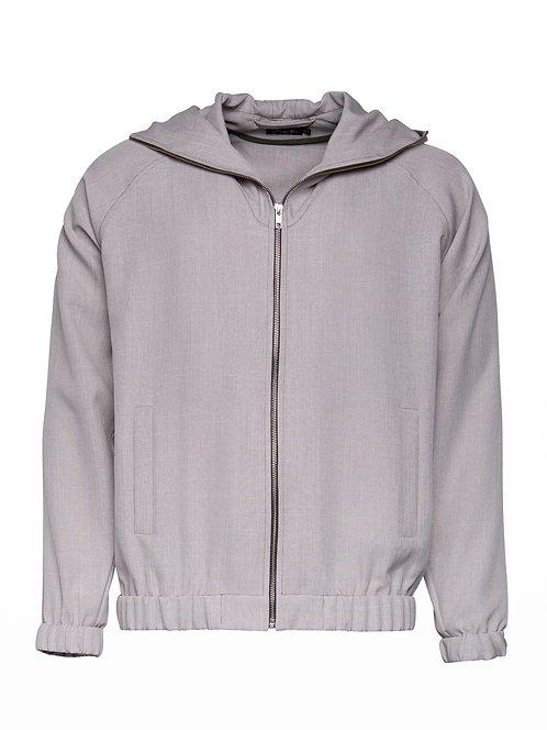 Sandy Grey Cactus Hoodie Jacket