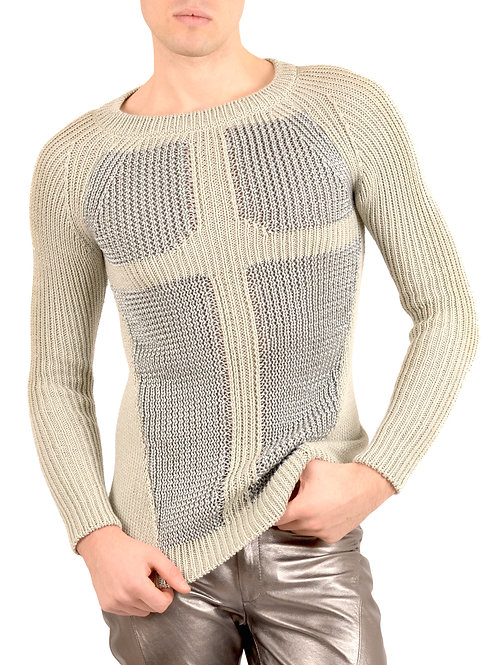 Grey and Silver Knitwear Sweater