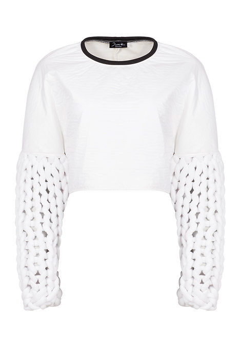White Knitwear Sweater