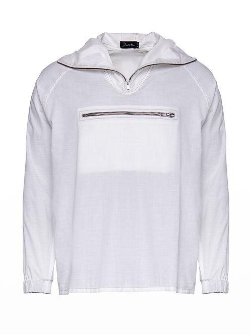 Unisex White Hoodie Sweater