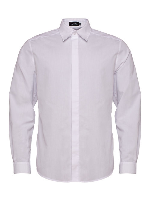 White Shirt w/ Concealed Buttons