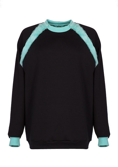 Felpa Mint Fur Sweater