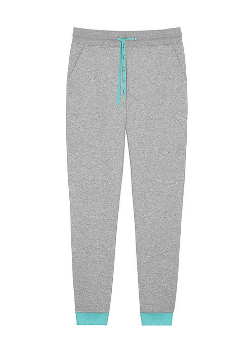 Women Organic Grey & Mint Trousers