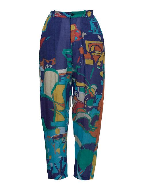 Printed Linen Pilot Trousers