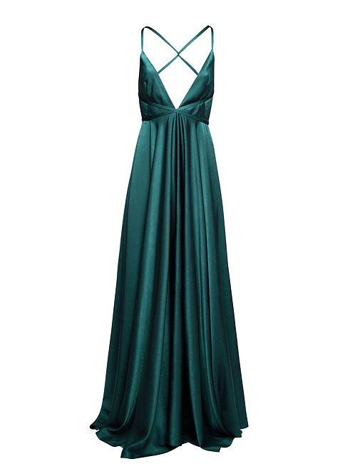 Emerald Round Long Dress