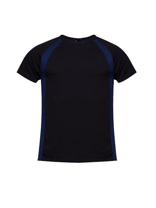 Raglan Panel T-shirt Black